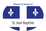 Fête de la Saint-Jean-Baptiste Étiquettes ovales - gabarit prédéfini. <br/>Utilisez notre logiciel Avery Design & Print Online pour personnaliser facilement la conception.