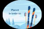 Ski alpin Étiquettes ovales festonnées - gabarit prédéfini. <br/>Utilisez notre logiciel Avery Design & Print Online pour personnaliser facilement la conception.