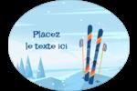 Ski alpin Étiquettes ovales - gabarit prédéfini. <br/>Utilisez notre logiciel Avery Design & Print Online pour personnaliser facilement la conception.
