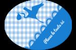 Bébé garçon Étiquettes ovales - gabarit prédéfini. <br/>Utilisez notre logiciel Avery Design & Print Online pour personnaliser facilement la conception.