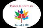 Mosaïque multicolore Canada 150 Étiquettes ovales festonnées - gabarit prédéfini. <br/>Utilisez notre logiciel Avery Design & Print Online pour personnaliser facilement la conception.