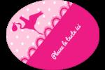 Bébé fille Étiquettes ovales - gabarit prédéfini. <br/>Utilisez notre logiciel Avery Design & Print Online pour personnaliser facilement la conception.