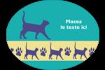 Pattes de chats Étiquettes ovales - gabarit prédéfini. <br/>Utilisez notre logiciel Avery Design & Print Online pour personnaliser facilement la conception.