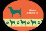 Pattes de chien Étiquettes ovales - gabarit prédéfini. <br/>Utilisez notre logiciel Avery Design & Print Online pour personnaliser facilement la conception.