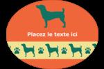 Pattes de chien Étiquettes ovales festonnées - gabarit prédéfini. <br/>Utilisez notre logiciel Avery Design & Print Online pour personnaliser facilement la conception.