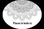Mandala magique Étiquettes ovales - gabarit prédéfini. <br/>Utilisez notre logiciel Avery Design & Print Online pour personnaliser facilement la conception.