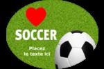 Amour du soccer Étiquettes ovales - gabarit prédéfini. <br/>Utilisez notre logiciel Avery Design & Print Online pour personnaliser facilement la conception.