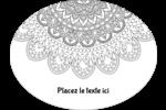 Mandala magique Étiquettes ovales festonnées - gabarit prédéfini. <br/>Utilisez notre logiciel Avery Design & Print Online pour personnaliser facilement la conception.