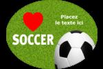 Amour du soccer Étiquettes ovales festonnées - gabarit prédéfini. <br/>Utilisez notre logiciel Avery Design & Print Online pour personnaliser facilement la conception.