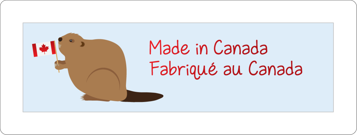 "1"" x 2⅝"" Address Label - Canada Day"