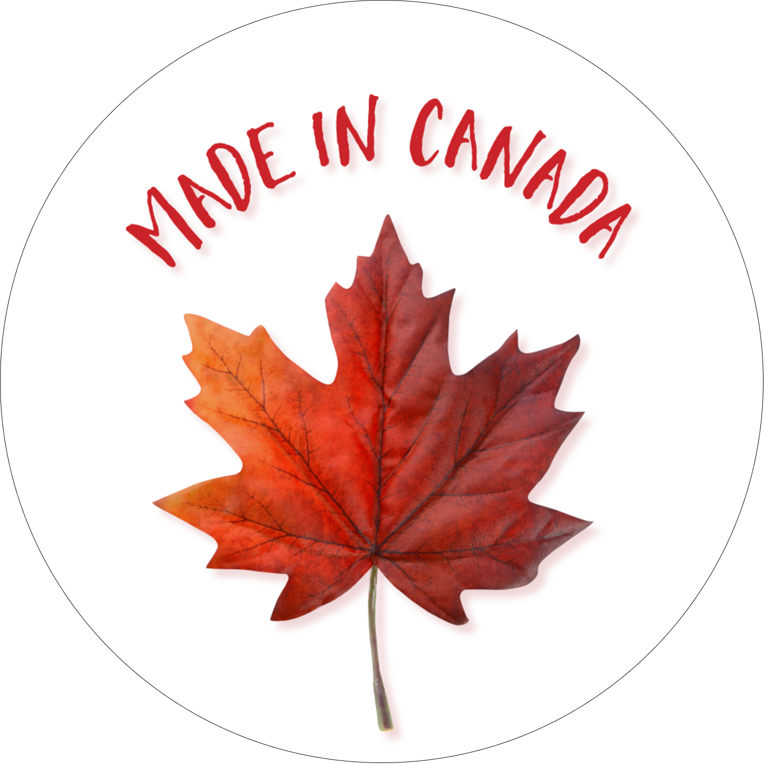"2½"" Round Label - Canada Day"