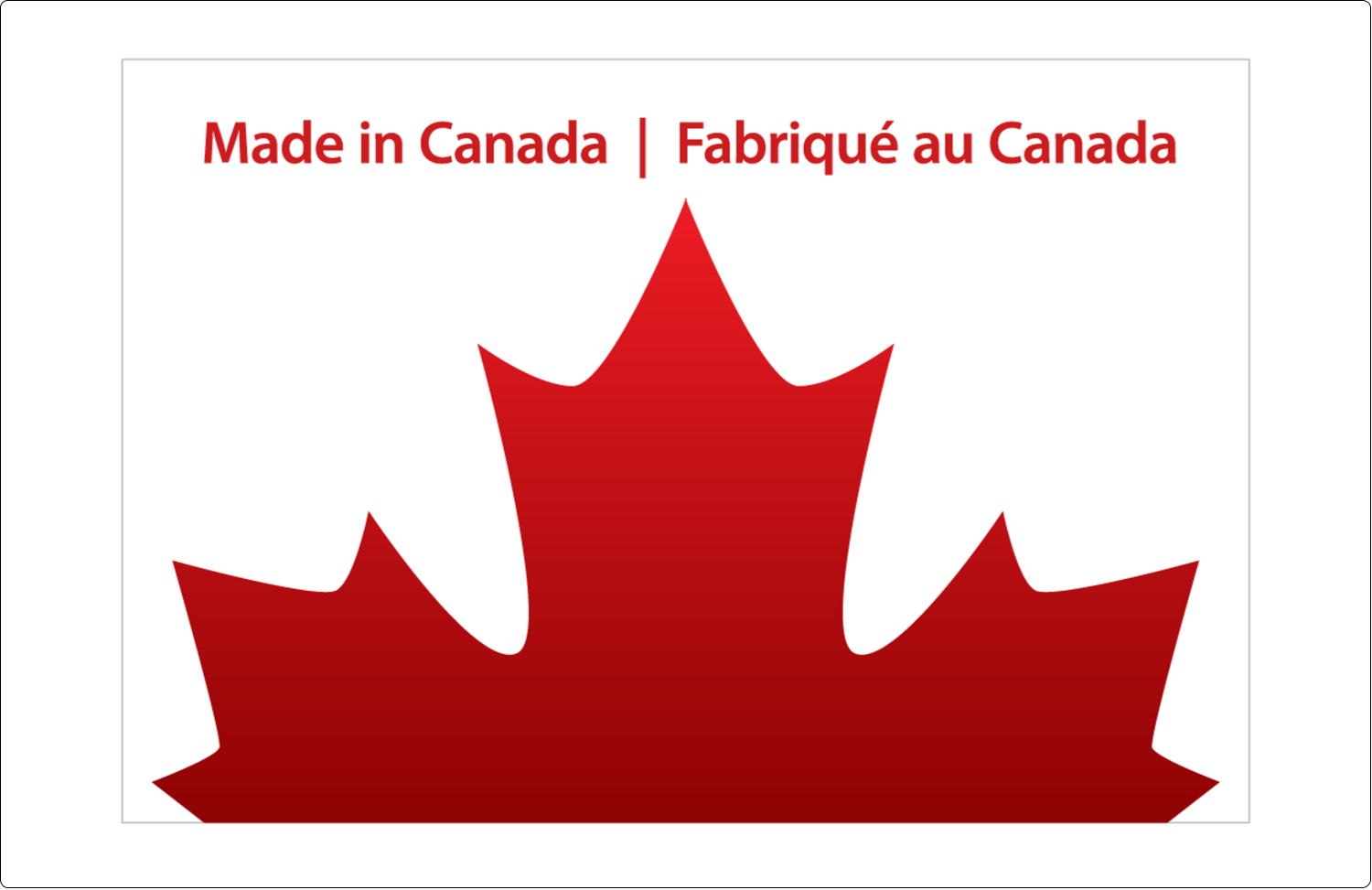 """5½"""" x 8½"""" Shipping Label - Canada Day"""