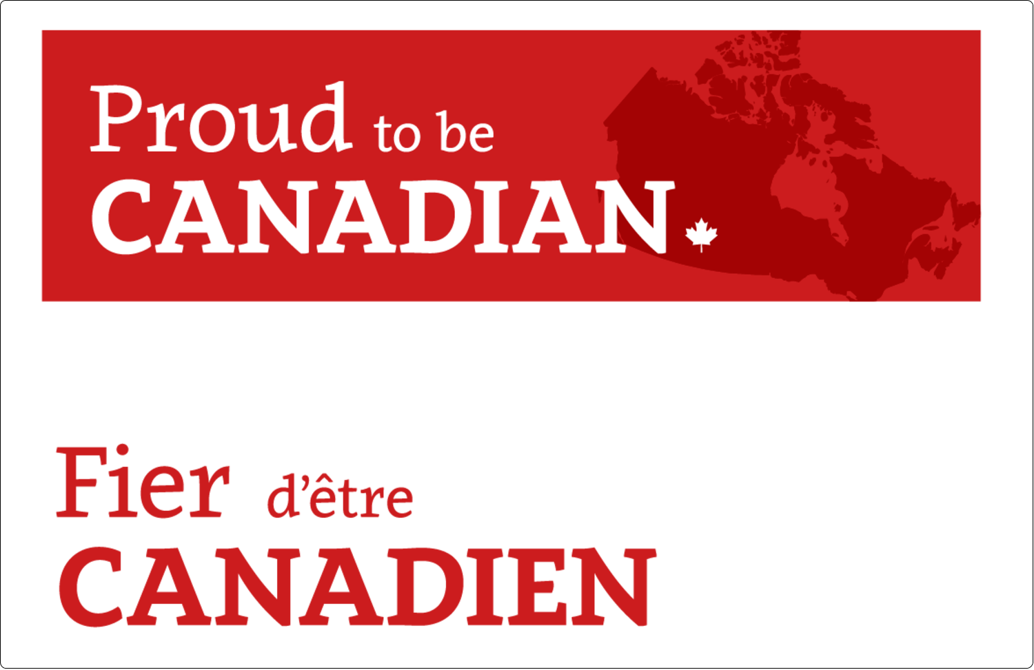 "5½"" x 8½"" Shipping Label - Canada Day"