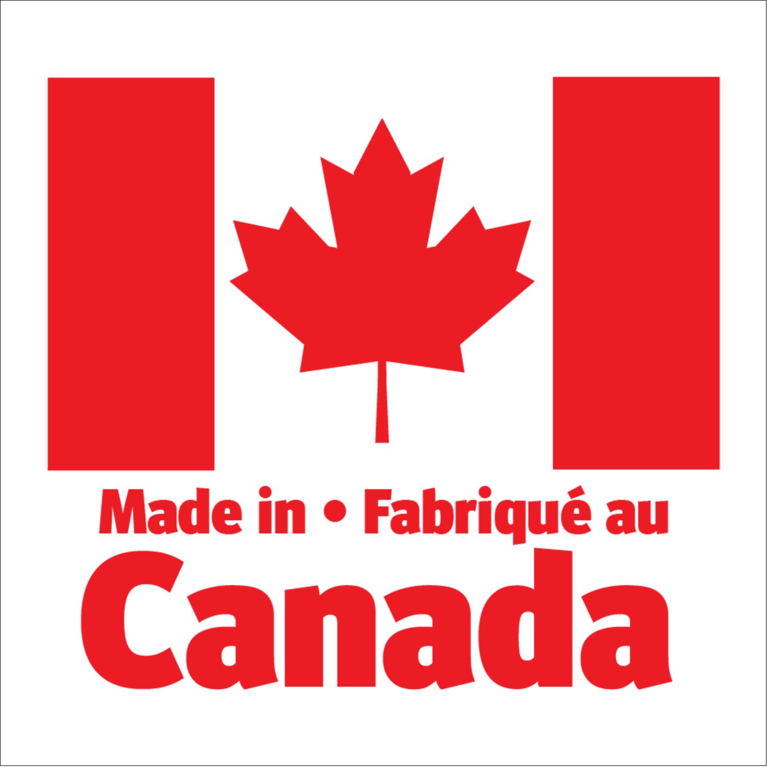 "2"" x 2"" Square Label - Canada Day"