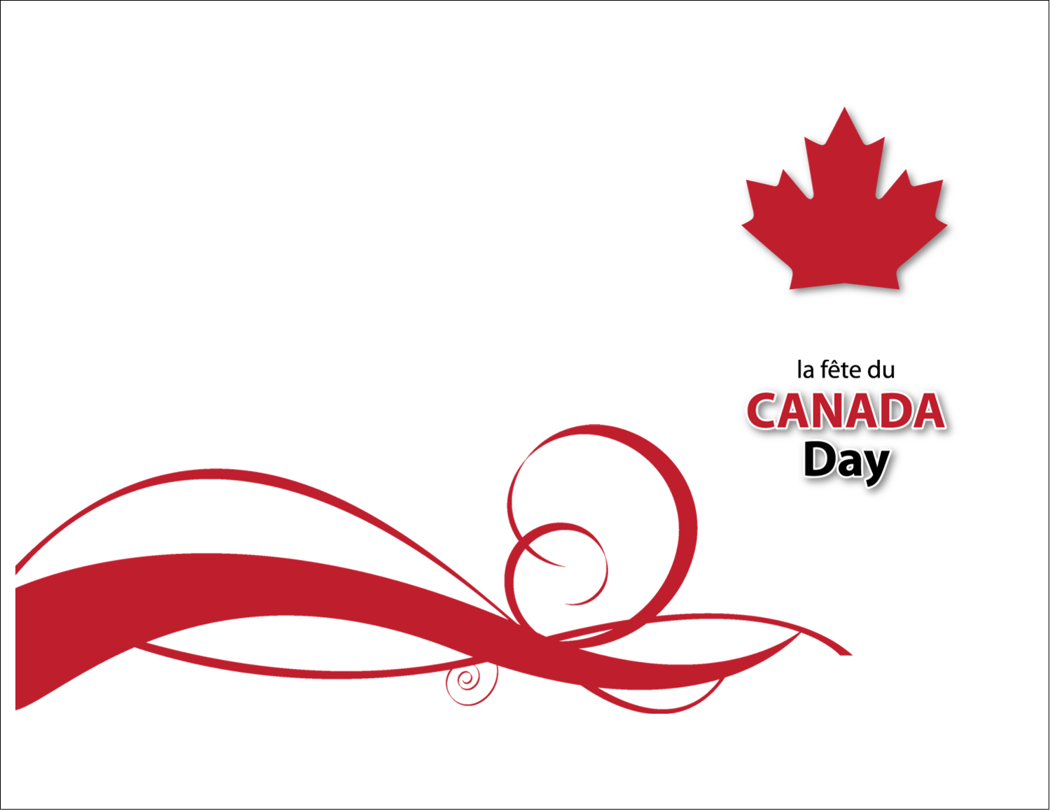"""5½"""" x 4¼"""" Note Card - Canada Day"""