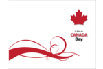 Customize all your patriotic Canada Day decorations with a vibrant red maple leaf