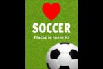 Amour du soccer Carte Postale - gabarit prédéfini. <br/>Utilisez notre logiciel Avery Design & Print Online pour personnaliser facilement la conception.