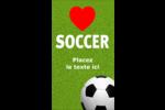 Amour du soccer Carte d'affaire - gabarit prédéfini. <br/>Utilisez notre logiciel Avery Design & Print Online pour personnaliser facilement la conception.