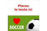 Amour du soccer Étiquettes enveloppantes - gabarit prédéfini. <br/>Utilisez notre logiciel Avery Design & Print Online pour personnaliser facilement la conception.