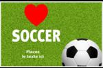 Amour du soccer Étiquettes d'adresse - gabarit prédéfini. <br/>Utilisez notre logiciel Avery Design & Print Online pour personnaliser facilement la conception.