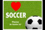 Amour du soccer Badges - gabarit prédéfini. <br/>Utilisez notre logiciel Avery Design & Print Online pour personnaliser facilement la conception.