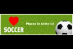 Amour du soccer Affichette - gabarit prédéfini. <br/>Utilisez notre logiciel Avery Design & Print Online pour personnaliser facilement la conception.