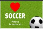 Amour du soccer Cartes Et Articles D'Artisanat Imprimables - gabarit prédéfini. <br/>Utilisez notre logiciel Avery Design & Print Online pour personnaliser facilement la conception.