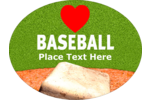 A baseball base, dirt, grass and a large heart to show off your love of all things baseball!