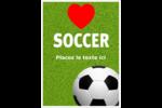 Amour du soccer Étiquettes rondes - gabarit prédéfini. <br/>Utilisez notre logiciel Avery Design & Print Online pour personnaliser facilement la conception.