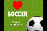 Amour du soccer Étiquettes rondes gaufrées - gabarit prédéfini. <br/>Utilisez notre logiciel Avery Design & Print Online pour personnaliser facilement la conception.