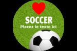 Amour du soccer Étiquettes de classement - gabarit prédéfini. <br/>Utilisez notre logiciel Avery Design & Print Online pour personnaliser facilement la conception.