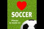 Amour du soccer Étiquettes carrées - gabarit prédéfini. <br/>Utilisez notre logiciel Avery Design & Print Online pour personnaliser facilement la conception.