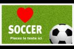 Amour du soccer Cartes Pour Le Bureau - gabarit prédéfini. <br/>Utilisez notre logiciel Avery Design & Print Online pour personnaliser facilement la conception.
