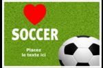 Amour du soccer Étiquettes à codage couleur - gabarit prédéfini. <br/>Utilisez notre logiciel Avery Design & Print Online pour personnaliser facilement la conception.
