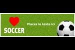 Amour du soccer Carte de note - gabarit prédéfini. <br/>Utilisez notre logiciel Avery Design & Print Online pour personnaliser facilement la conception.