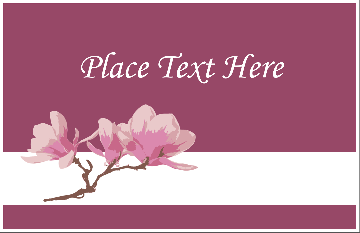 "5½"" x 8½"" Greeting Card - Spring Magnolia"
