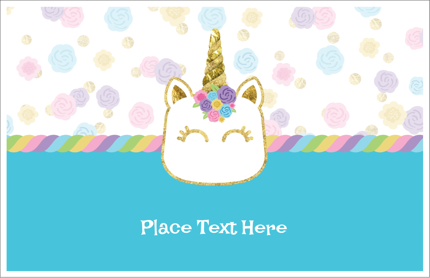 Get creative with Unicorn Glitter Part pre-designed Label and Card