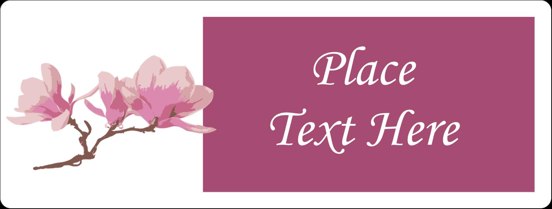 "1"" x 2⅝"" Address Label - Spring Magnolia"