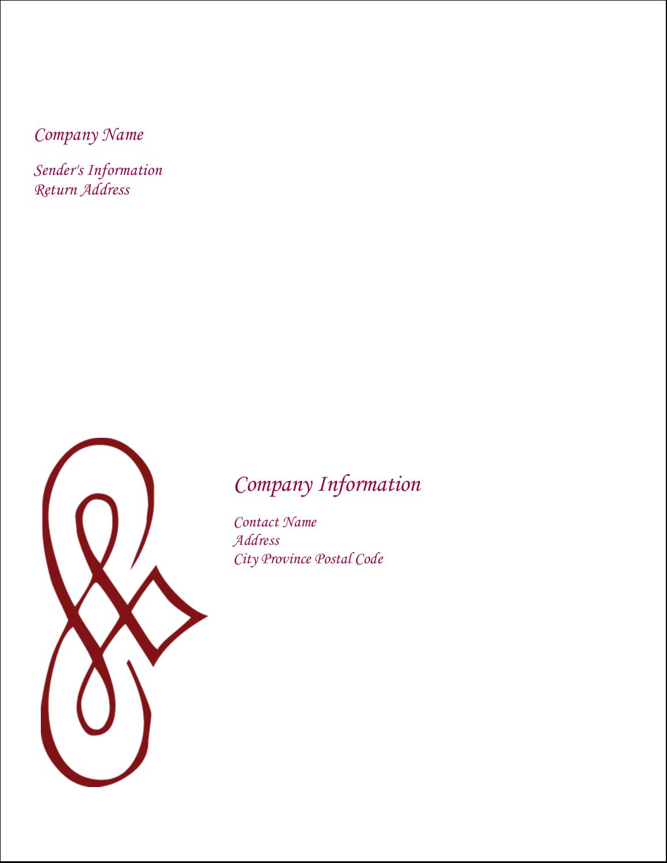 "11"" x 8½"" Shipping Label - Diamond Scrollwork"