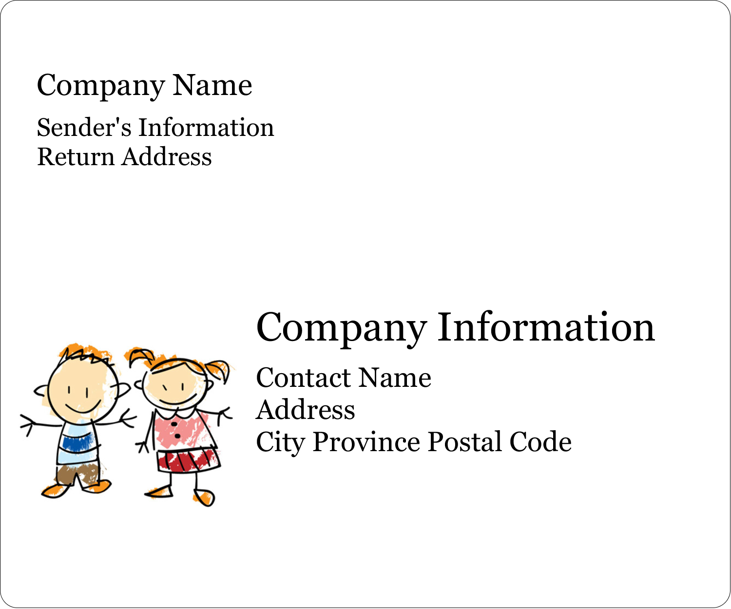 "4"" x 3⅓"" ID Label - Child Education"