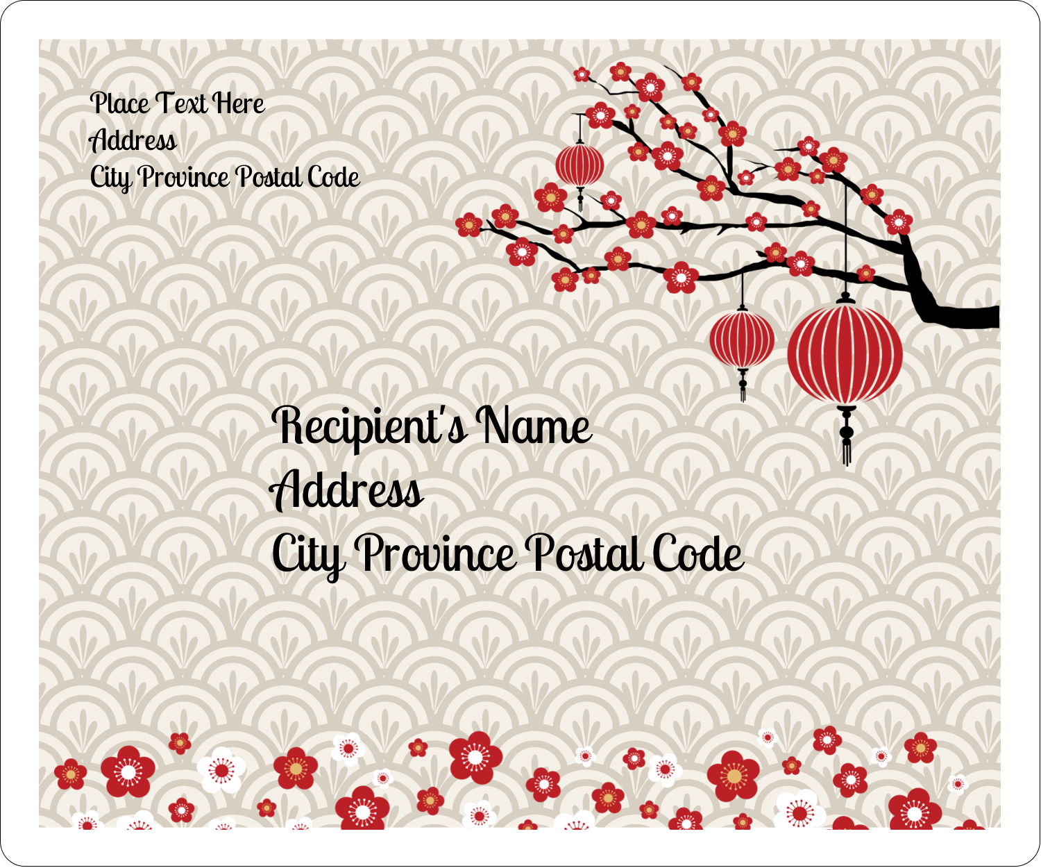 "3⅓"" x 4"" Shipping Label - Chinese New Year"
