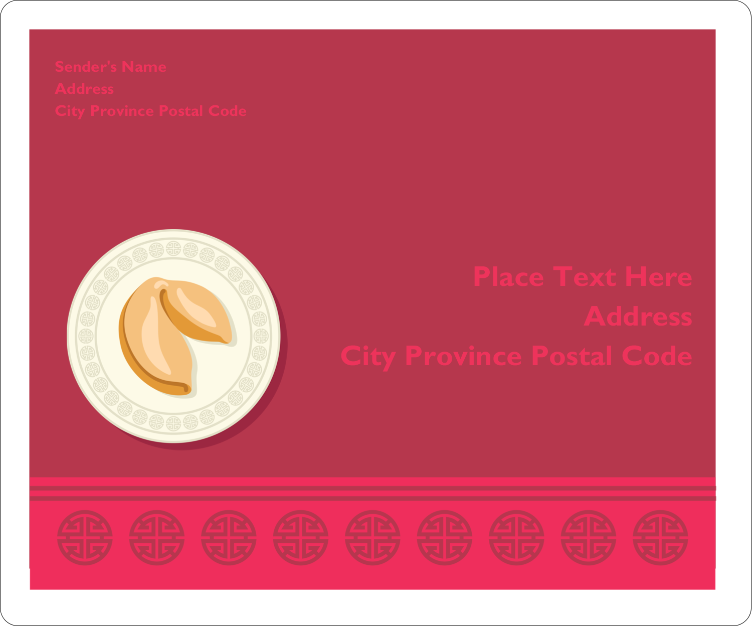 """3⅓"""" x 4"""" Shipping Label - Chinese New Year with Fortune"""