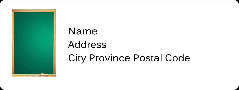 """1"""" x 2⅝"""" Address Label - Chalkboard Education"""