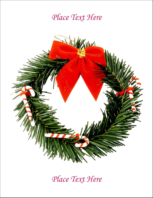 "8½"" x 11"" T-Shirt-Tranfers - Christmas Garland"