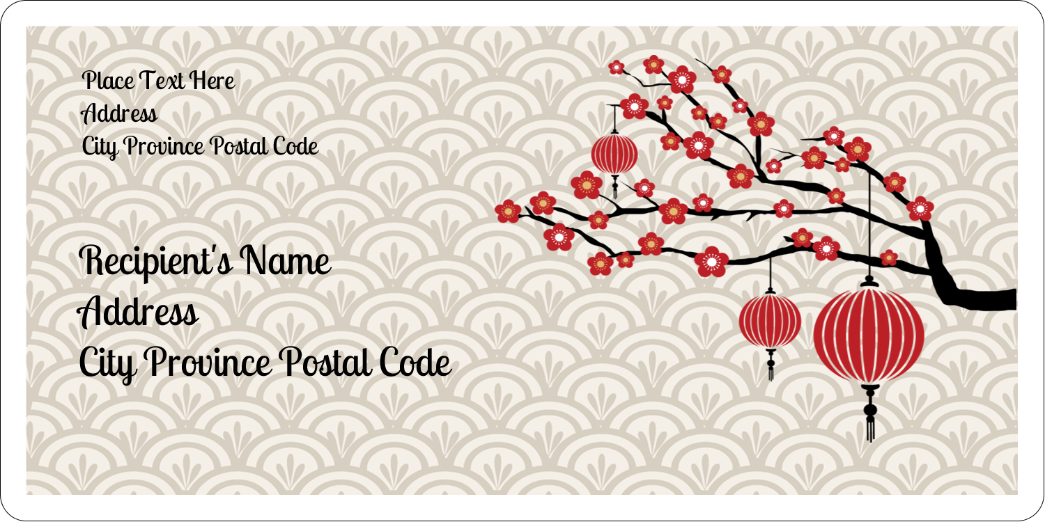 "2"" x 4"" Shipping Label - Chinese New Year"