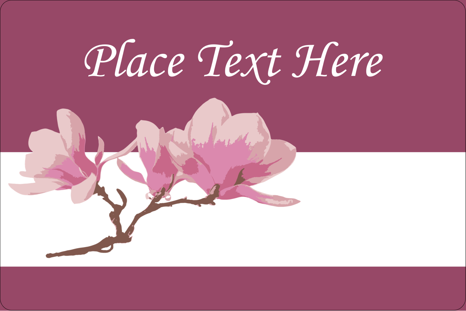 "2"" x 3"" Rectangular Label - Spring Magnolia"