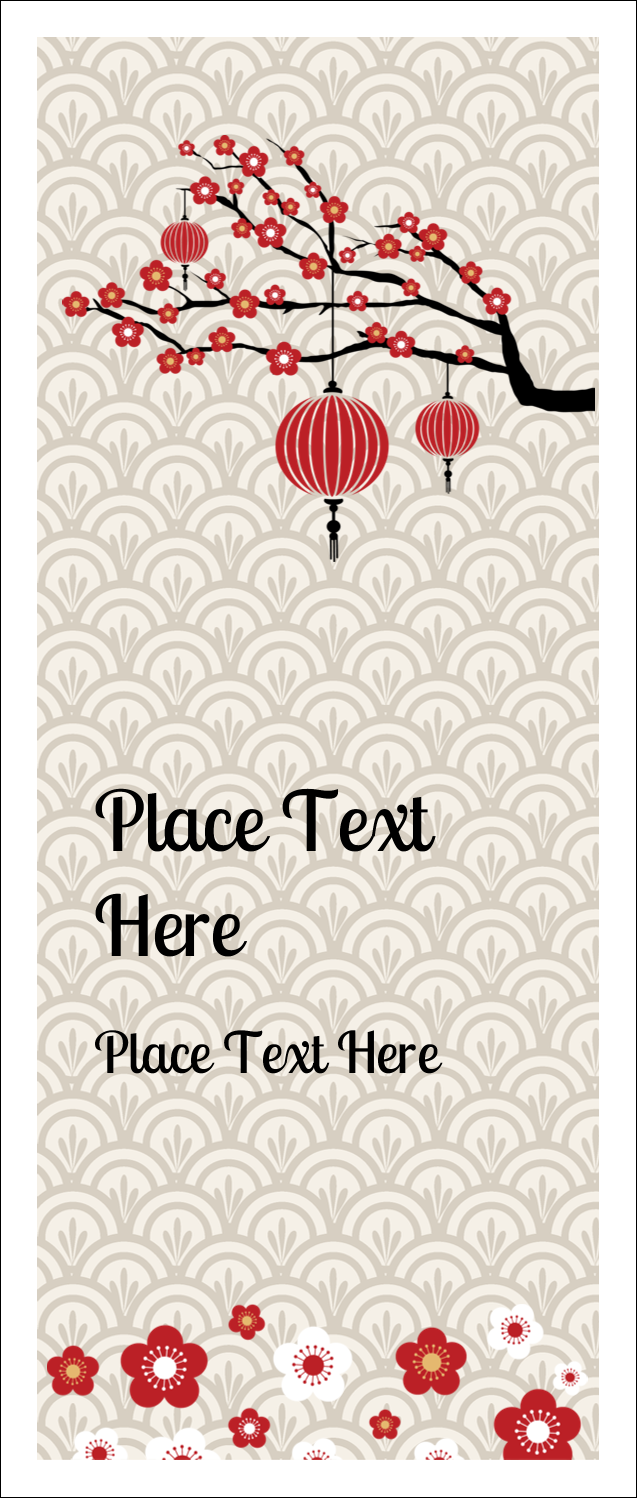 """1¾"""" x 5½"""" Printable Tickets - Chinese New Year"""