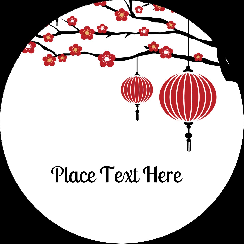 """2½"""" Round Label - Chinese New Year"""