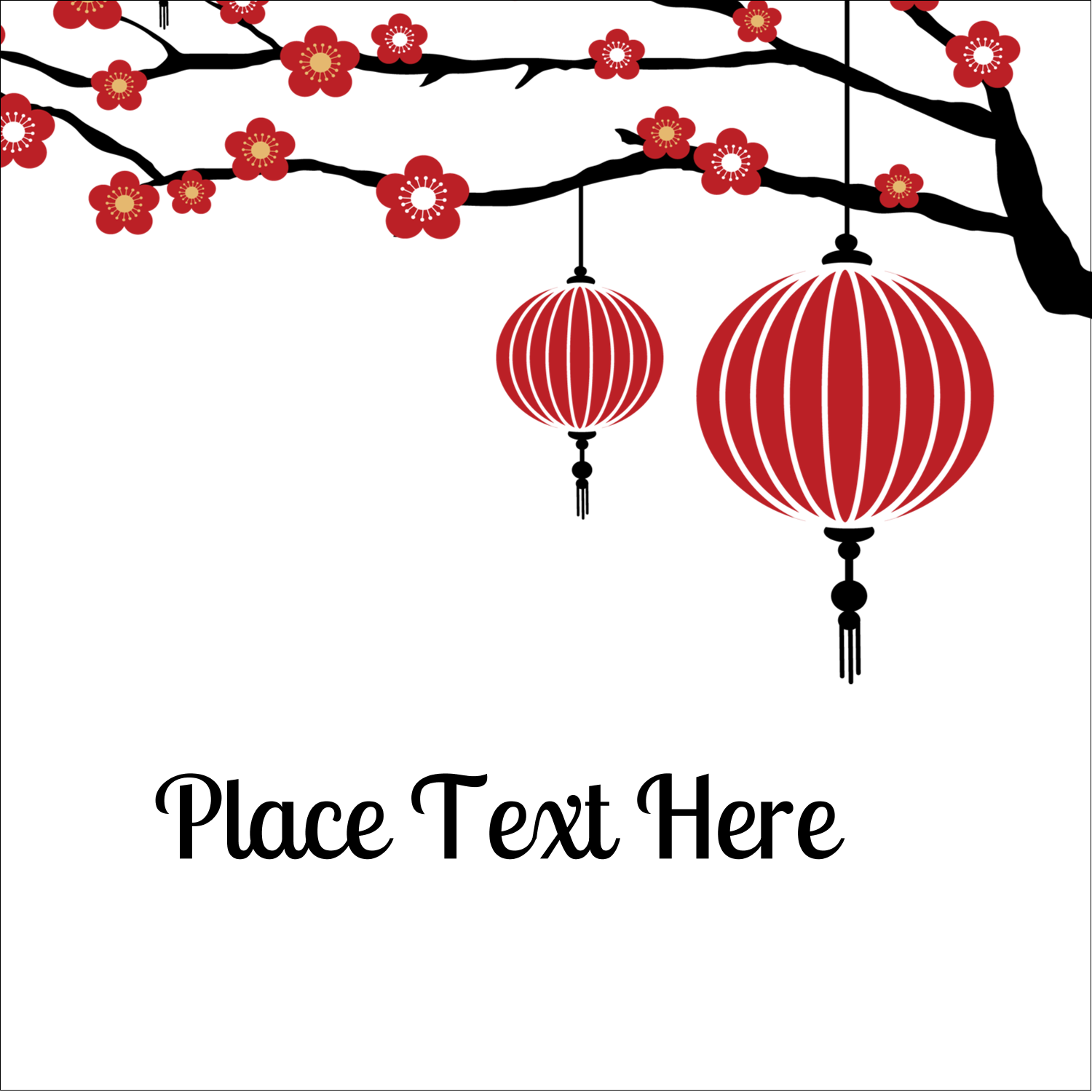 "2"" x 2"" Sqaure Label - Chinese New Year"