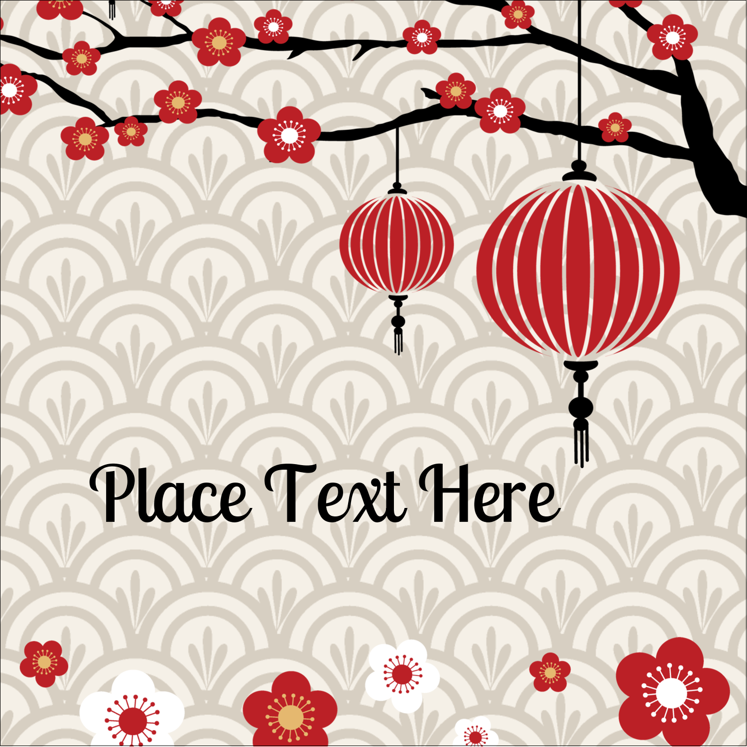 "2"" x 2"" Square Label - Chinese New Year"